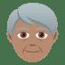 🧓🏽 older person: medium skin tone Emoji on Joypixels Platform