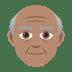 👴🏽 old man: medium skin tone Emoji on Joypixels Platform