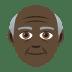 👴🏿 old man: dark skin tone Emoji on Joypixels Platform