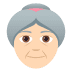 👵🏻 old woman: light skin tone Emoji on Joypixels Platform