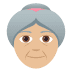 👵🏼 old woman: medium-light skin tone Emoji on Joypixels Platform