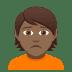 🙍🏾 person frowning: medium-dark skin tone Emoji on Joypixels Platform