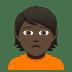 🙍🏿 person frowning: dark skin tone Emoji on Joypixels Platform
