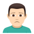🙍🏻‍♂️ Light Skin Tone Man Frowning Emoji on JoyPixels Platform