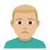 🙍🏼‍♂️ man frowning: medium-light skin tone Emoji on Joypixels Platform