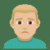 🙍🏼♂️ Medium Light Skin Tone Man Frowning Emoji on JoyPixels Platform