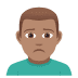 🙍🏽‍♂️ man frowning: medium skin tone Emoji on Joypixels Platform