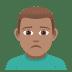 🙍🏽♂️ man frowning: medium skin tone Emoji on Joypixels Platform