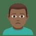 🙍🏾♂️ man frowning: medium-dark skin tone Emoji on Joypixels Platform