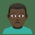 🙍🏿♂️ man frowning: dark skin tone Emoji on Joypixels Platform