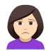 🙍🏻‍♀️ woman frowning: light skin tone Emoji on Joypixels Platform