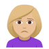 🙍🏼‍♀️ Medium Light Skin Tone Woman Frowning Emoji on JoyPixels Platform