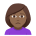 🙍🏾‍♀️ woman frowning: medium-dark skin tone Emoji on Joypixels Platform