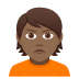 🙎🏾 person pouting: medium-dark skin tone Emoji on Joypixels Platform