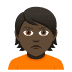 🙎🏿 person pouting: dark skin tone Emoji on Joypixels Platform
