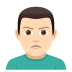 🙎🏻‍♂️ man pouting: light skin tone Emoji on Joypixels Platform