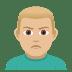 🙎🏼♂️ man pouting: medium-light skin tone Emoji on Joypixels Platform