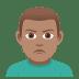 🙎🏽♂️ man pouting: medium skin tone Emoji on Joypixels Platform