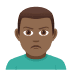 🙎🏾‍♂️ man pouting: medium-dark skin tone Emoji on Joypixels Platform