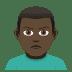 🙎🏿♂️ Dark Skin Tone Man Pouting Emoji on JoyPixels Platform