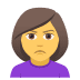 🙎‍♀️ woman pouting Emoji on Joypixels Platform