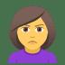 🙎♀️ woman pouting Emoji on Joypixels Platform