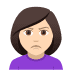 🙎🏻‍♀️ woman pouting: light skin tone Emoji on Joypixels Platform