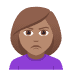 🙎🏽‍♀️ woman pouting: medium skin tone Emoji on Joypixels Platform