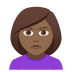 🙎🏾‍♀️ woman pouting: medium-dark skin tone Emoji on Joypixels Platform