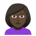 🙎🏿‍♀️ woman pouting: dark skin tone Emoji on Joypixels Platform