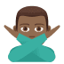 🙅🏾‍♂️ man gesturing NO: medium-dark skin tone Emoji on Joypixels Platform