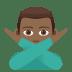 🙅🏾♂️ Medium Dark Skin Tone Man Gesturing No Emoji on JoyPixels Platform