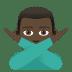 🙅🏿♂️ Dark Skin Tone Man Gesturing No Emoji on JoyPixels Platform