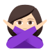 🙅🏻‍♀️ woman gesturing NO: light skin tone Emoji on Joypixels Platform