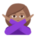 🙅🏽‍♀️ woman gesturing NO: medium skin tone Emoji on Joypixels Platform
