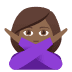 🙅🏾‍♀️ woman gesturing NO: medium-dark skin tone Emoji on Joypixels Platform