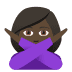 🙅🏿‍♀️ woman gesturing NO: dark skin tone Emoji on Joypixels Platform