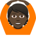 🙆🏿 person gesturing OK: dark skin tone Emoji on Joypixels Platform