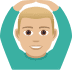 🙆🏼♂️ Medium Light Skin Tone Man Gesturing Ok Emoji on JoyPixels Platform