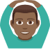🙆🏾‍♂️ Medium Dark Skin Tone Man Gesturing Ok Emoji on JoyPixels Platform