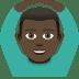 🙆🏿♂️ man gesturing OK: dark skin tone Emoji on Joypixels Platform