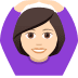 🙆🏻‍♀️ woman gesturing OK: light skin tone Emoji on Joypixels Platform