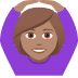 🙆🏽‍♀️ woman gesturing OK: medium skin tone Emoji on Joypixels Platform
