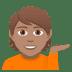 💁🏽 person tipping hand: medium skin tone Emoji on Joypixels Platform