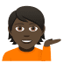 💁🏿 person tipping hand: dark skin tone Emoji on Joypixels Platform