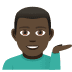💁🏿‍♂️ man tipping hand: dark skin tone Emoji on Joypixels Platform