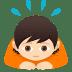 🙇🏻 person bowing: light skin tone Emoji on Joypixels Platform