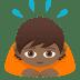 🙇🏾 person bowing: medium-dark skin tone Emoji on Joypixels Platform