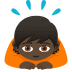 🙇🏿 person bowing: dark skin tone Emoji on Joypixels Platform
