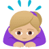 🙇🏼♀️ woman bowing: medium-light skin tone Emoji on Joypixels Platform